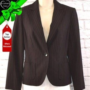 NWT Pinstriped 1 Button Blazer with Pockets